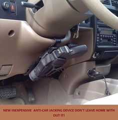 Anti-car jacking device - I'd probably shoot myself in the foot... LOL