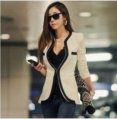 Dmart7deal;Jacket Lady V-neck Suit OL Jackets Plus Size
