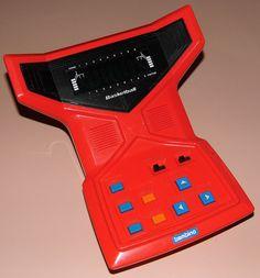 Vintage Bambino Basketball Electronic Handheld Game, Model ET-0501, VFD Screen, Made In Japan, Circa 1979.
