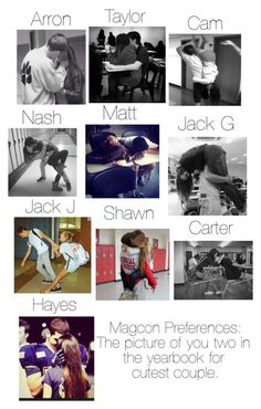 """Magcon Preferences: The picture of you two in the yearbook for cutest couple."" by macbarbie152 ❤ liked on Polyvore"