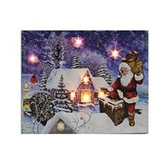1575 Battery Operated Lighted Santa on the Chimney Decorative Christmas Wall Plaque *** Continue to the product at the image link.