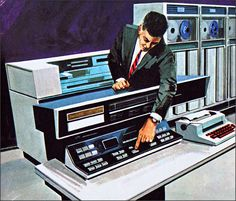 Computers at work 1969 Illustrated by Whitecroft Designs