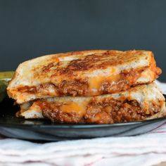 Sloppy Joe Grilled Cheese: the perfect comfort food!