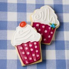 Many thanks fooood - cupcake decorated cookies