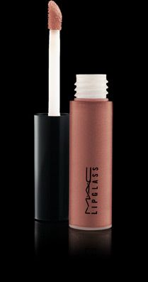 MAC Tinted Lipglass in Spice. Nice neutral, goes well with everything but especially with Stila Kitten shadow.
