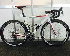 Cadel Evans' custom farewell BMC Teammachine SLR01, Tour Down Under - 2015