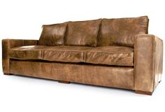 Battersea | Vintage Leather Extra Large Sofa From Old Boot Sofas