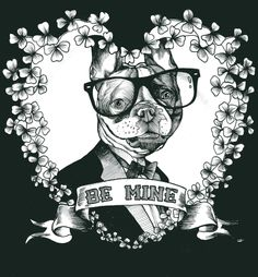 French Bulldog , Frenchie , The Dog Painter , Teunen , Jeroen Teunen , Valentine's , Be mine