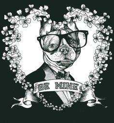 French Bulldog , Frenchie , The Dog Painter , Teunen , Jeroen Teunen , Valentine's , Be mine