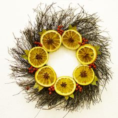 Wreath with Orange Slices, Bay, Star Anise & Red Cannella Berries - £17.99
