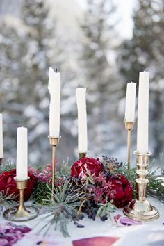 17 Chic Winter Wedding Tablescapes You'll Melt Over via Brit + Co.