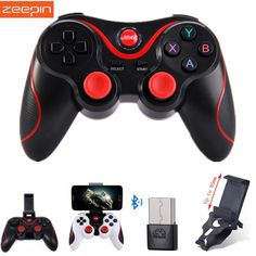 Zeepin T3 Smart Phone Game Controller Wireless Joystick Bluetooth 3.0 Android Gamepad Gaming Remote Control for PC Phone Tablet