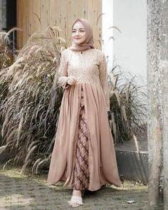 16 New Ideas For Sewing Inspiration Women Projects Kebaya Modern Hijab, Kebaya Hijab, Kebaya Muslim, Hijab Dress Party, Hijab Style Dress, Dress Outfits, Dresses, Dress Muslim Modern, Muslim Dress