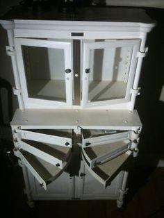 Vintage Industrial White Enamel Zinc Gray Dental Cabinet ...