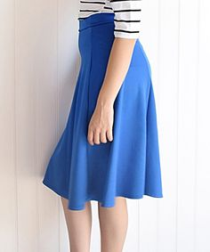 Love this éloges Royal Blue Midi Skirt - Womens by éloges on #zulily! #zulilyfinds