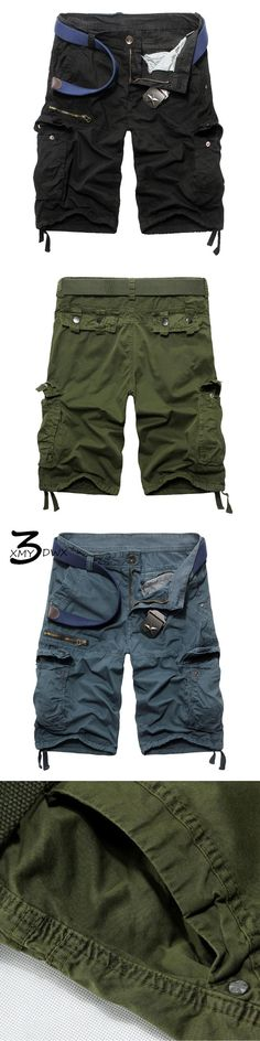 XMY3DWX 2017  New casual military Tooling shorts men's clothing multi bags cotton summer casual beach capris men