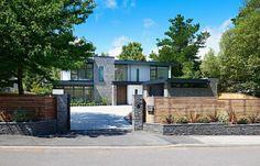 Modernes Haus in England kombiniert Stein und Glas   #england #kombiniert #modernes #stein