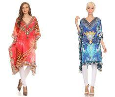 2131561d029e8 Sakkas MiuMiu Ligthweight Summer Printed Short Caftan Dress / Cover Up