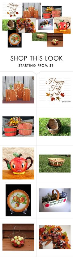 """""""Fall Orchard Harvest"""" by chaseybluevintage ❤ liked on Polyvore featuring interior, interiors, interior design, home, home decor, interior decorating, vintage, autumn and falltrend"""