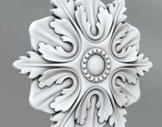 Carved Rosettes Medallions ornament 3D model Rosettes, Ornament, Carving, 3d, Architecture, Model, Art On Wood, Arquitetura, Decoration