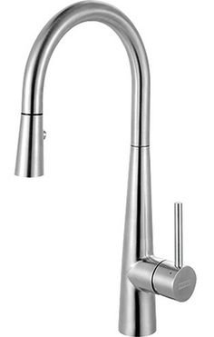 Franke Steel Series 16 Tall Single Handle Pull-Down Contemporary Kitchen Prep Faucet, Stainless Steel Stainless Steel Kitchen Faucet, Brushed Nickel Kitchen Faucet, Faucet Kitchen, Bar Faucets, Bathroom Faucets, Bulthaup Kitchen, Prep Kitchen, Kitchen Ideas