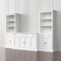 Cameo Modular White Media Entertainment Center with Storage Box Crate and Barrel - Ryley Randall - Open Bookcase, Bookcase Storage, Tall Cabinet Storage, Storage Drawers, Bookshelves, Crate And Barrel, Living Room Built Ins, Living Room Entertainment Center, Custom Entertainment Center