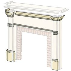 Illustration: Gregory Nemec | thisoldhouse.com | from How to Build a Wood Mantel