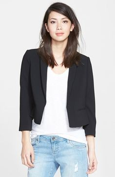 Adrianna Papell Crossover Back Crop Jacket