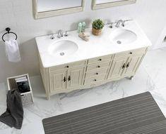 Double wood vanity bathroom ideas Vanity Bathroom, Wood Vanity, Bathroom Ideas, Double Vanity, Plumbing, Home Decor, Dresser Vanity Bathroom, Decoration Home, Room Decor