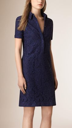 The casual shirt dress shape made from a fabric like lace renders this a double agent....can be dressed up or down. Very me.