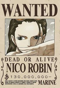 Nico Robin (Strawhat Pirates, Archeologist) Bounty Poster