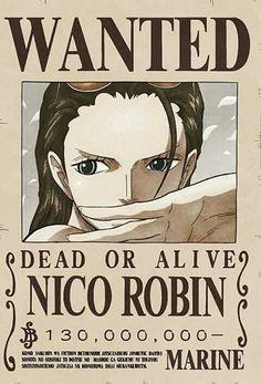 Nico Robin (Strawhat Pirates, Archeologist) Bounty Poster