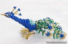 beaded peacock pattern | Bead Beauty - Bead Animals