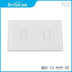 Broadlink TC2 US 2 Gang Smart Home Tempered Glass Panel RF Touch Remote Wall Light Switch Wifi Control Via Rm2 Rm Pro Automation