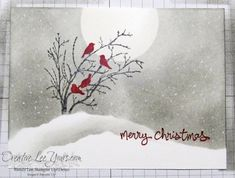 Serene Silhouettes Snow Birds Christmas by Wendy Lee