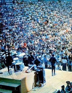 The Beatles in concert. Dodger Stadium, Aug 1966