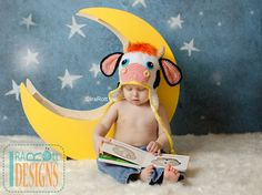 Handmade Crochet Cow Hat For All Ages