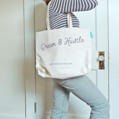 Dream & Hustle tote from Goods that Matter, Made in NOLA