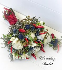 Chili, Christmas Wreaths, Wedding Flowers, Floral Wreath, Holiday Decor, Home Decor, Floral Crown, Decoration Home, Chile