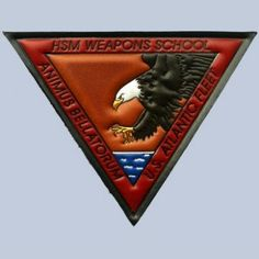 """HSM Weapons School (in the picture, embossed and hand painted on leather) 5""""x 5"""".  MADE IN THE USA"""