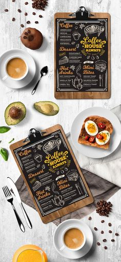Coffee Menu Template. Creative and modern food menu templates for your restaurant business.  More #coffee #menu for your #brand you can download here ➝ https://creativemarket.com/BarcelonaDesignShop?u=BarcelonaDesignShop