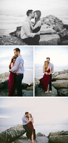 Beach Engagement Photos by Rebecca Read Photography