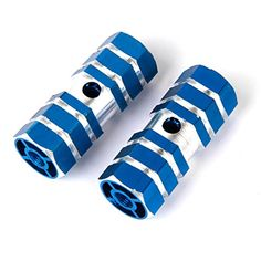 Bike Pegs - BMX Bike Bicycle 38 Axle Alloy Foot Pegs Blue >>> Details can be found by clicking on the image.