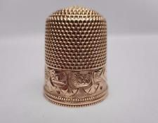 Really Nice -  Antique 14K Gold Thimble, Simons Bros. c 1860's  Size 8