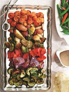 Rosemary Roasted Winter Vegetables with Tri-Color Potatoes - So simple yet SO impressive, this recipe is loved by all and perfect for holidays or any day. Naturally vegan, gluten-free, dairy-free, allergy-friendly.