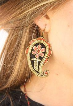 1970's Paisley Drop Earrings Women's Earrings, 1970s, Paisley, Vintage, Jewelry, Fashion, Accessories, Jewellery Making, Moda