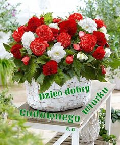 Good Morning, Floral Wreath, Wreaths, Table Decorations, Home Decor, Polish, Pictures, Buen Dia, Floral Crown