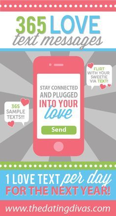 Show your spouse how much you love them by sending a love text every day for a whole year. The Dating Divas show you how easily and romantically. Romantic Text Messages, Romantic Texts, Flirting Messages, Flirting Quotes For Her, Flirting Memes, Romantic Ideas, My Funny Valentine, Valentines, Happy Marriage