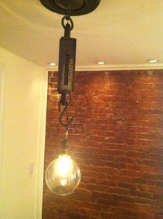 Re-purposed butchers scale industrial light. $125.00, via Etsy.
