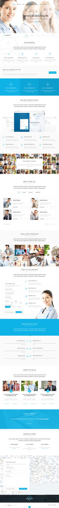 Heartify is Premium Responsive Retina Parallax HTML5 Medical and Healthcare Template. One Page. Bootstrap. Revolution Slider. http://www.responsivemiracle.com/cms/heartify-premium-responsive-medical-health-html5-template/